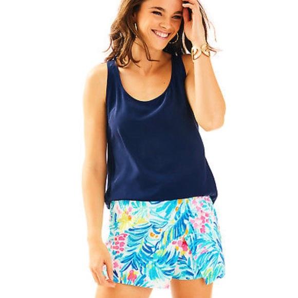 796e668a50b2bc Lilly Pulitzer Shorts | Serene Blue Tippy Top Skort | Poshmark